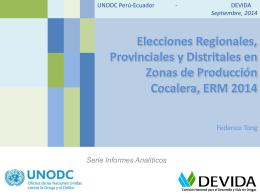 Elecciones Regionales, Provinciales y Distritales en Zonas