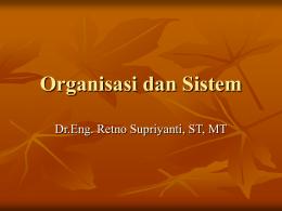 Organisasi dan Sistem