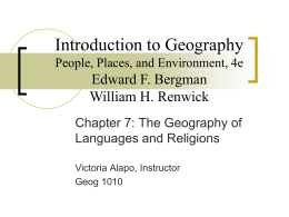Introduction to Geography - Metropolitan Community …