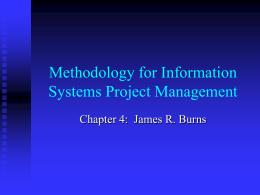 Methodology for Information Systems Project Management
