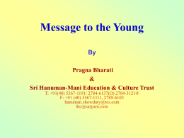 Message to the Young