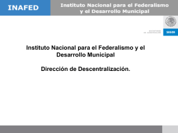 Instituto Nacional para el Federalismo y el Desarrollo