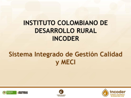 INSTITUTO COLOMBIANO DE DESARROLLO RURAL …