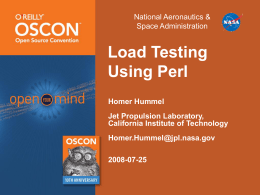 Load Testing Using Perl Presentation