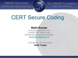 CERT Secure Coding Training - owasp-cbt
