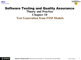 Software Testing Theory and Practice