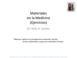 Materiales en la Medicina (Ejercicios)