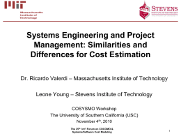 Systems Engineering and Project Management: Similarities