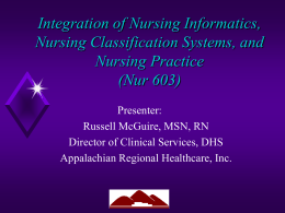 Integration of Nursing Informatics, Nursing Classification