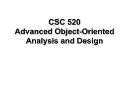 Objecvt-Oriented Analysis and Design