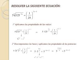 Ejercicio de ecuaciones