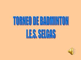 TORNEO DE BADMINTON IES SELGAS