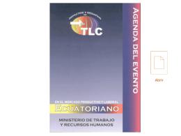 TLC – Agenda del Seminario