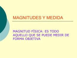 MAGNITUDES Y MEDIDA