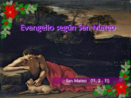 Evangelio San Mateo 11, 2-11