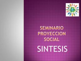 SEMINARIO PROYECCION SOCIAL