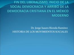 Fin del liberalismo, inicio de la social democracia y