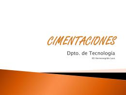 CIMENTACIONES - IES P. Hermenegildo Lanz