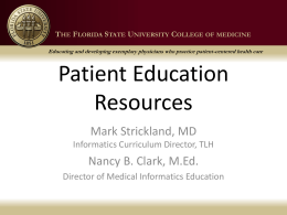 Patient Education Handouts - Florida State University