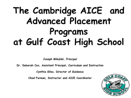 The Cambridge AICE Program/Advanced Placement …