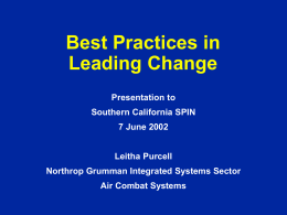 Best Practices in Managing Change
