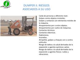 DUMPER II. RIESGOS ASOCIADOS A SU USO