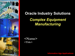 High Tech Industry Story - Oracle Software Downloads