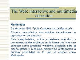 The Web: interactive and multimedia education