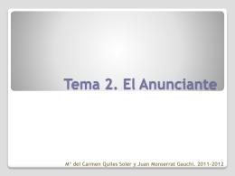 Tema 2. El Anunciante