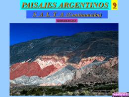PAISAJES ARGENTINOS 9.