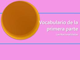 Vocabulario de las profesiones