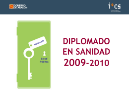 DIPLOMADO EN SANIDAD 2003-2004
