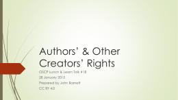 Authors' & Creators' Rights