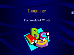 Language - University of Florida