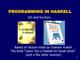 Functional Programming - SLU Mathematics and …