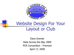 Website Design For Your Layout or Club