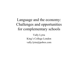 Language and the economy: Challenges and opportunities …