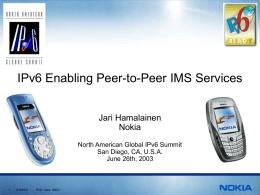 IPv6 enabling peer-to