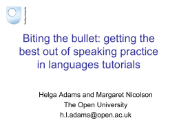 Biting the bullet: - Open Research Online