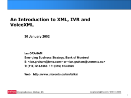 An XML Introduction