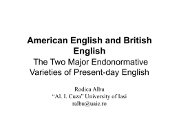 American English and British English – the Two Major