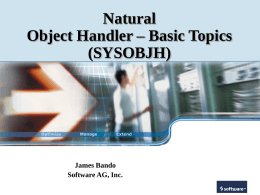 Natural Object Handler (SYSOBJH)