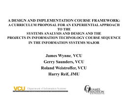 A DESIGN AND IMPLEMENTATION COURSE FRAMEWORK: …