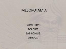 MESOPOTAMIA - Historia del Arte I