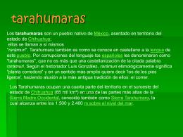 tarahumaras - ASIGNATURA ESTATAL CHIHUAHUA