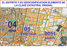 EL DISTRITO Y SU GEOCODIFICACION ELEMENTO DE LA …