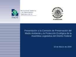 Art. 5o. Ley Ambiental del Distrito Federal