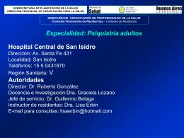 Concurso de Residencias para Profesionales de la salud 2006