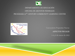 PROGRAMA 21ST CENTURY COMMUNITY LEARNING …