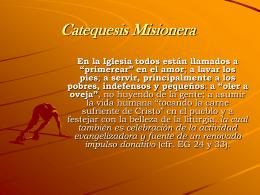 Catequesis Misionera - Obras Misionales Pontificias de